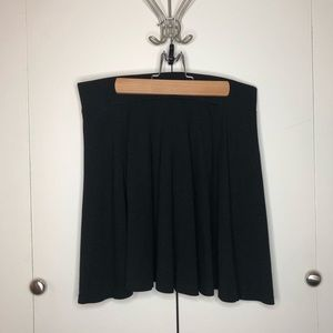 Black H&M skater skirt